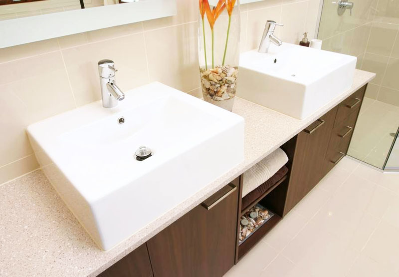 Square Bathroom Stone Bench Top