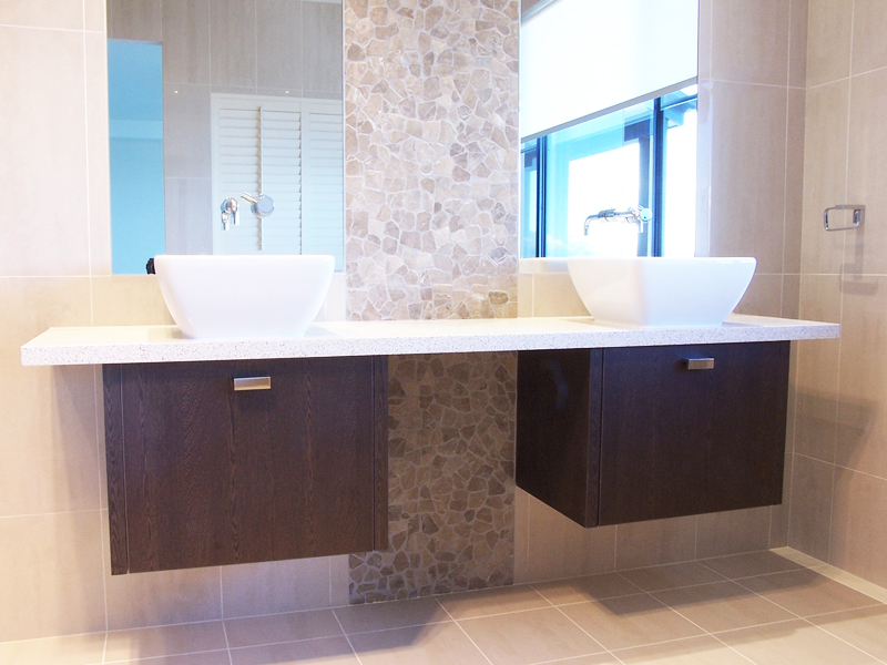 Double Vanity Stone Bench Top