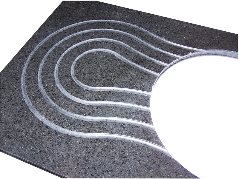 Drainer Grooves Stone