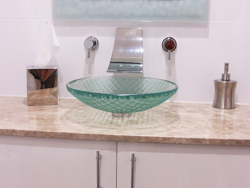 Glass Basin Vanity