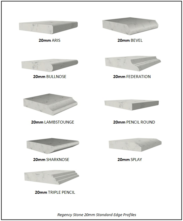 20mm Standard Stone Edge Profiles